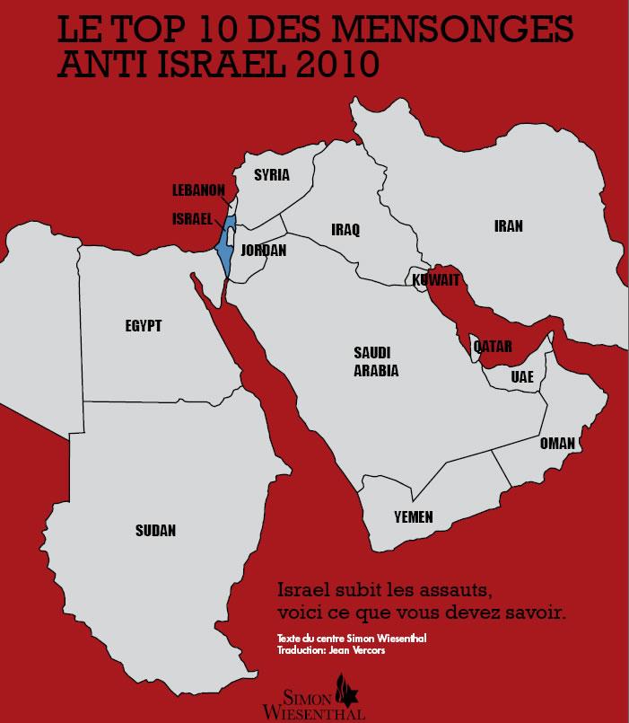 «Le top 10 des mensonges anti Israel 2010? par le SIMON WIESENTHAL CENTER