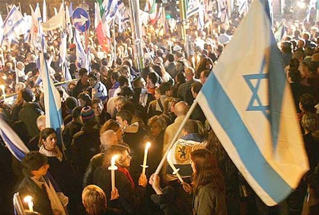 Manifestation de soutien à Israël qui s'est tenue le 7 octobre à Rome