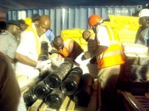 13 conteneurs de missiles iraniens très probablement destinés à Gaza ont été intercepté au Nigeria