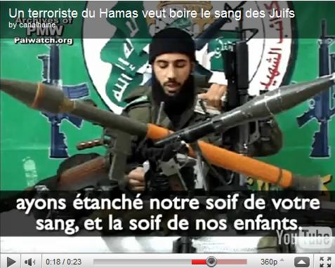 Vidéo: «le meilleur sang est le sang des juifs» Adham Ahmad Abu Jandal, terroriste du Hamas