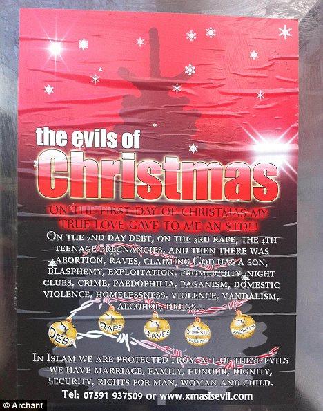 Grande-Bretagne : des musulmans lancent une campagne «Noël est diabolique»