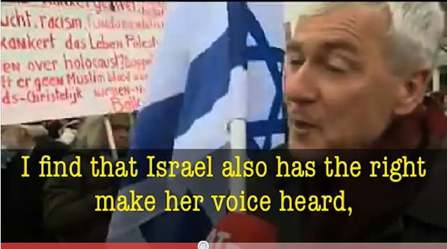 Amsterdam: un Pasteur défile seul avec un drapeau d'Israël face aux islamistes !