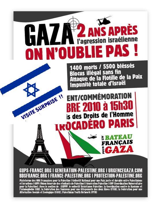 Manifestation au Trocadéro: la Police arrête les militants de la LDJ et laisse le drapeau du Hamas flotter