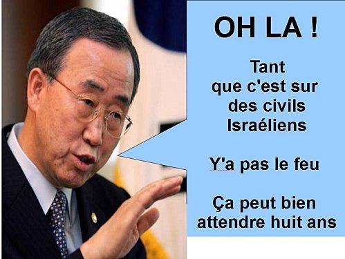 L'ONU et L'UE blâment Les terroristes qui envoient des missiles sur les citoyens israéliens