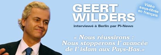 Vidéo: Geert Wilders questionné par pi-news (politically Incorrect) – sous-titré en Français