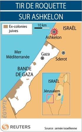 En 48h, 8 projectiles de fabrication militaire ont été  lancés sur les civils de la région d'Aschkélon/Shaar ha Neguev par les terroristes de Gaza,  par Aschkel