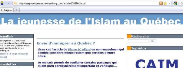 «Pas d'autres musulmans au Québec», plaide un musulman québécois