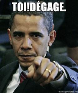 Moubarak: Obama dégage …
