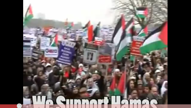 Vidéo UK: Manifestations anti-fascistes de gauche soutenant le hamas