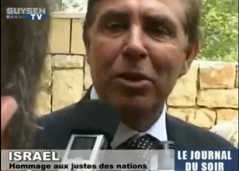Vidéo: cérémonie des Justes à Yad Vashem, Jean-Pïerre Foucault