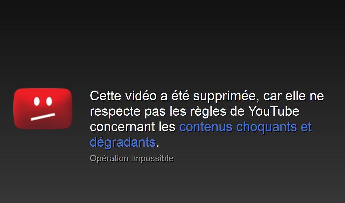Censure YouTube : les vidéos montrant le terrorisme supprimées