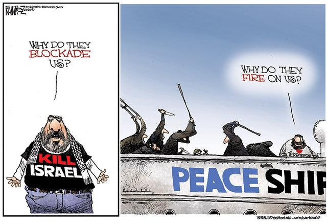 Flottille «humanitaire» ? Non, flottille de terroristes voulant tuer des soldats israéliens !
