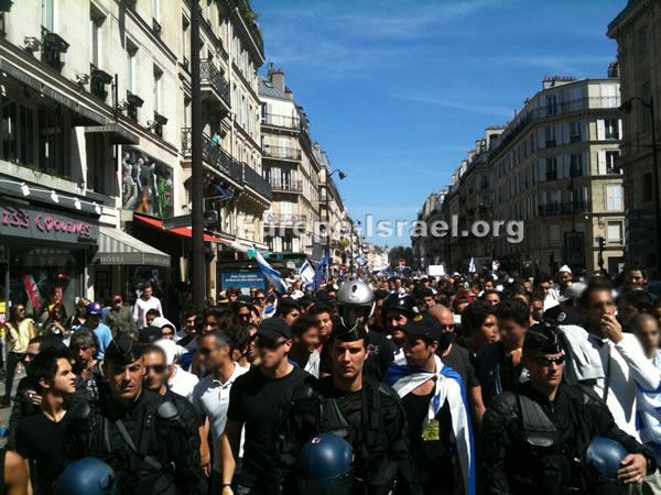 Paris: 1500 personnes manifestent pour soutenir Israël !
