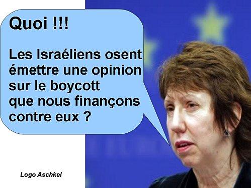 Catherine Ashton encore prise en flagrant délit de mauvaise foi en critiquant Israël !