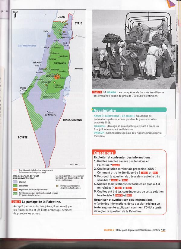 France: « L'affaire des manuels scolaires pro-palestiniens » Suite…