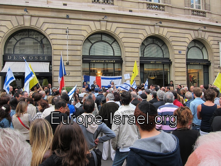 Grande manifestation de soutien à Israël à Paris le 28 août 2011