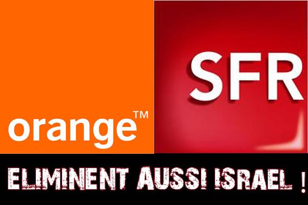 Orange aussi élimine Israël, SFR propose un tarif Internet depuis la Palestine