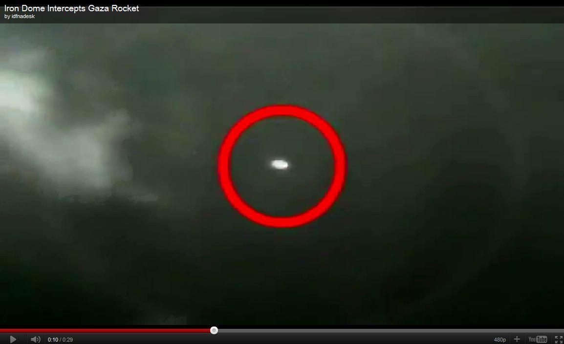 Vidéo : Interception d'une roquette par le système de protection « Dôme de fer »