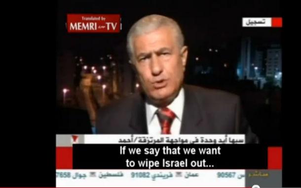 Vidéo: Abbas Zaki du Fatah: «L'objectif ultime est la destruction d'Israël ! ne le dites à personne…»