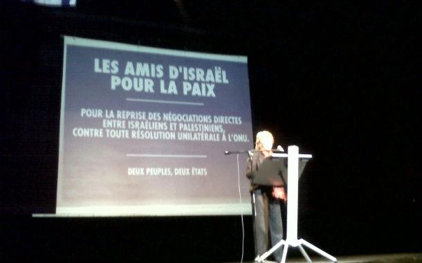 Grand succès du meeting des Amis d'Israël ! M. Sarkozy la France se réveille et n'entend pas soutenir les palestiniens à l'ONU !