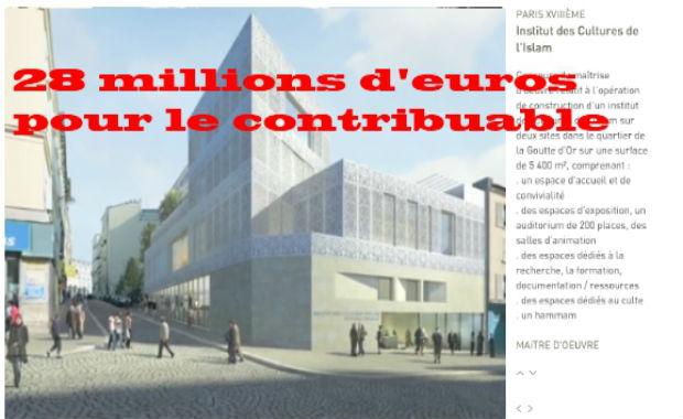 Vidéo: L'institut des Cultures d'Islam coûtera 28 millions d'euros aux contribuables français grâce à Delanoë !