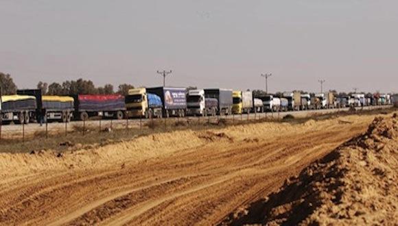 Lundi, 4882 tonnes de marchandises livrées à Gaza depuis Israël