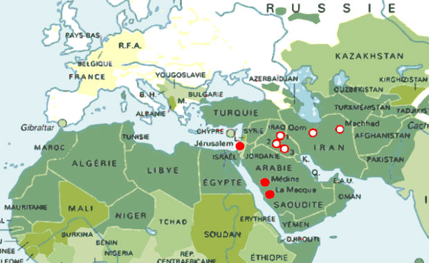 carte europe moyen orient