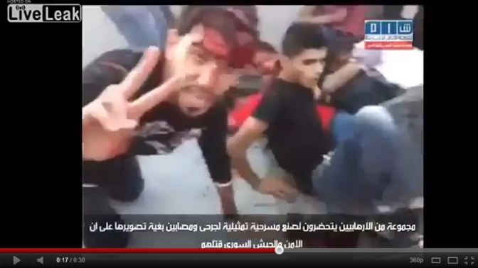 Vidéo: Syrie, les faux morts qui se réveillent et éclatent de rire…