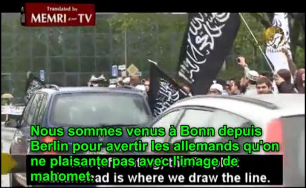 Vidéo: Allemagne, des islamistes avertissent qu'ils sont prêts à combattre dans les rues des villes allemandes