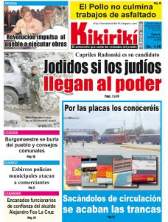 Les dérapages antisémites de la campagne de Chavez au Venezuela