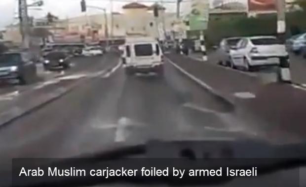 Vidéo: Un automobiliste juif israelien rencontre un arabe israelien.