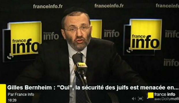 video gilles bernheim oui la s curit des juifs est menac e en france europe isra l news. Black Bedroom Furniture Sets. Home Design Ideas