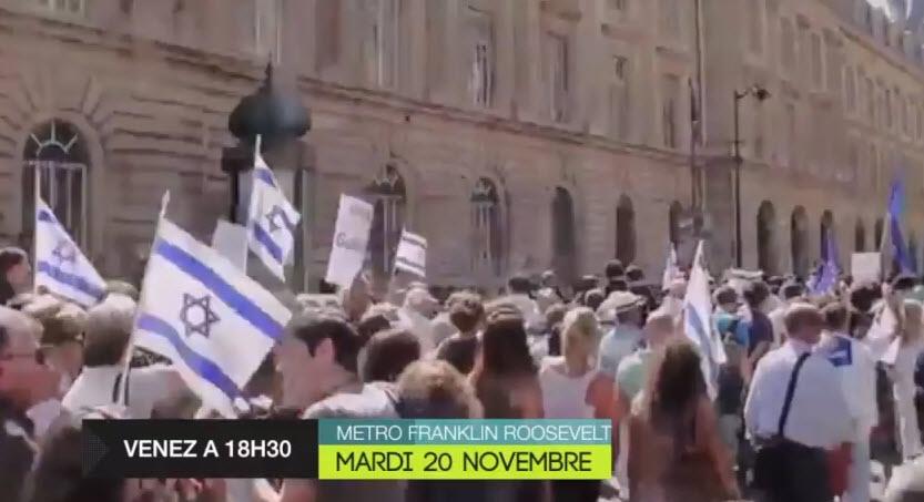 Manifestation de soutien à Israël le 20 novembre 2012