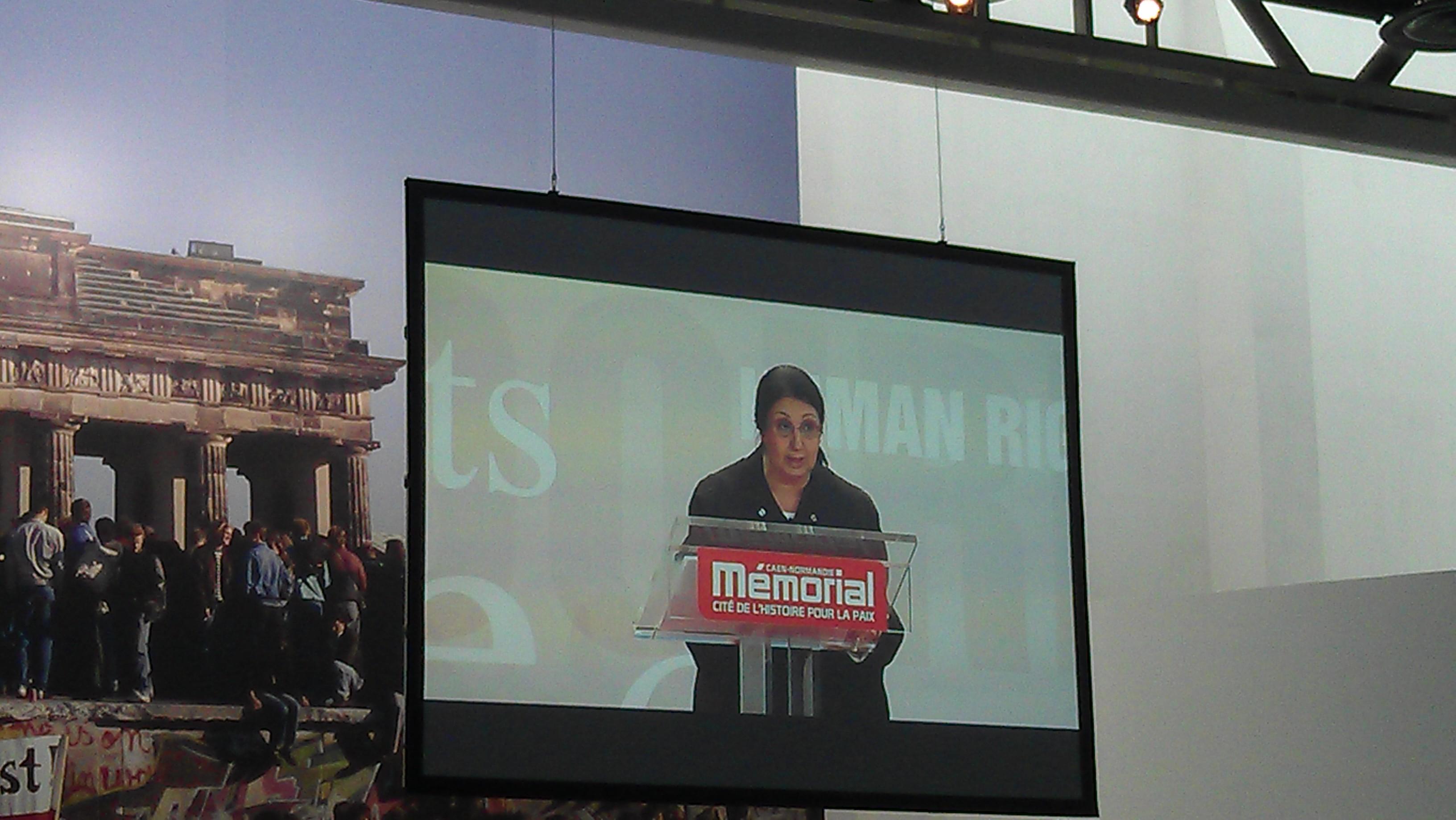 Rachel Franco, Avocate Israélienne au Barreau de Tel Aviv a obtenue le prix du public au Mémorial de Caen