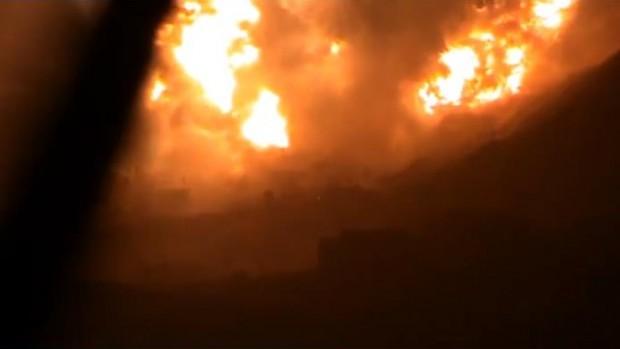 Les dernières infos Damas: un embrasement total du ciel après la gigantesque explosion