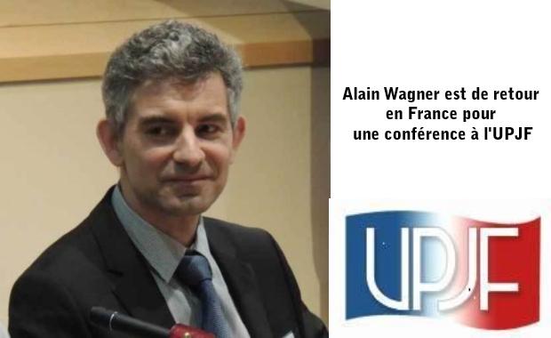 Alain Wagner est de retour en France pour une conférence à l'UPJF