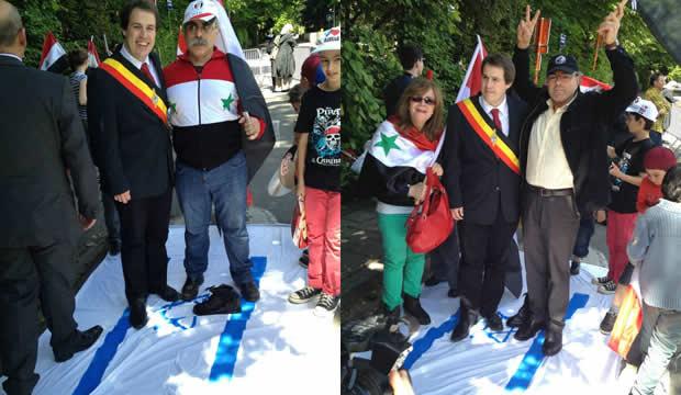 Pétition pour la suspension du député belge Laurent Louis pour avoir piétiné le drapeau israélien qui sera brûlé ensuite.