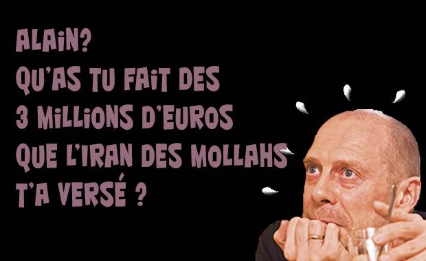 Où sont passés les 3 millions d'euros donnés à Soral par le régime iranien?
