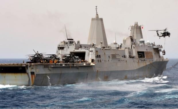 Des centaines de Marines débarquent sur le port de Haifa, Israel