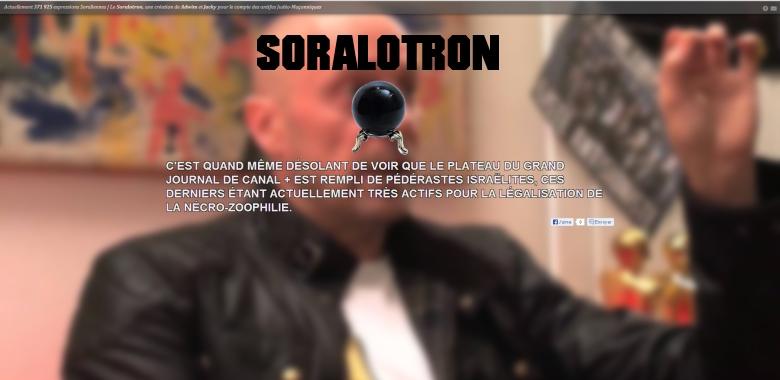 Humour :Soralotron, ce logiciel en ligne qui ridiculise Soral