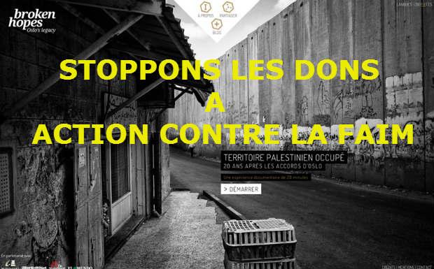 Campagne antisioniste de «Action contre la faim»: stoppons massivement nos dons à cette ONG !