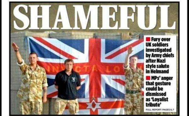Après le Salut Nazi inversé des militaires français, le salut hitlérien des soldats britanniques