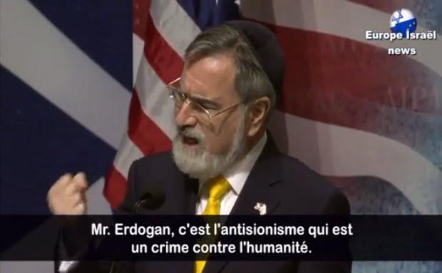 Vidéo: Remarquable discours du Grand Rabbin de Grande Bretagne lors de la Conférence de l'AIPAC en mars 2013.