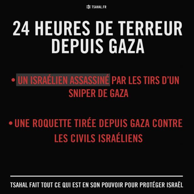 Suite à l'assassinat d'un citoyen israélien, Tsahal cible des sites d'activités terroristes dans la bande de Gaza