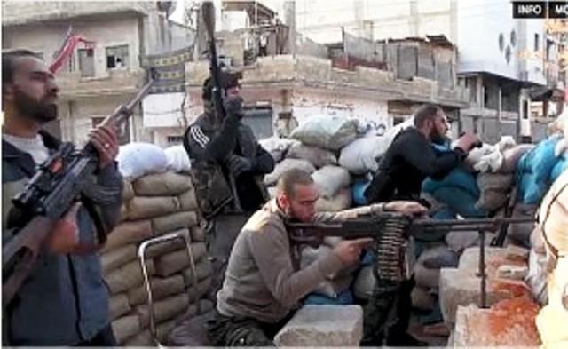 Des Jihadistes étrangers continuent d'affluer en Syrie. Avec l'ASL, on arrive à près de 9000 combattants islamistes.