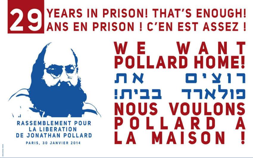 Rassemblement de soutien à Jonathan Pollard le jeudi 30 janvier 2014 à Paris