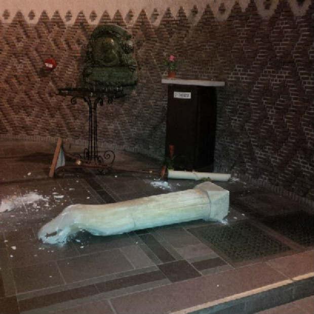 Europe Israël condamne la profanation de l'église Sainte-Odile