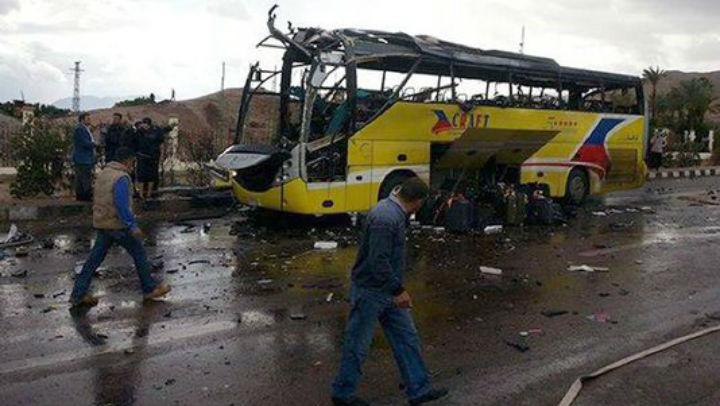 Egypte/Sinai : quatre morts dans un attentat visant un bus de touristes