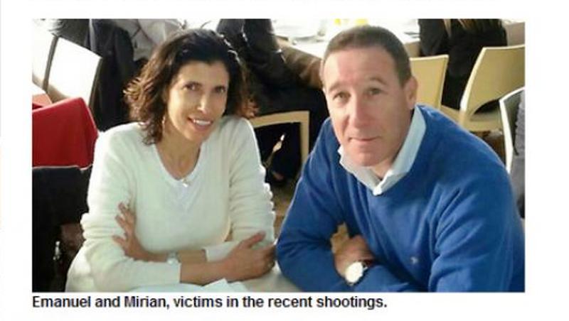 Miriam et Emanuel Riva, victimes de la tuerie de Bruxelles, laissent deux filles.