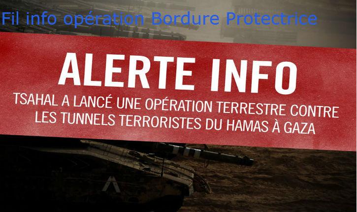 Fil Info Israël suite : « Opération Bordure protectrice » mise à jour régulière, 4ème partie